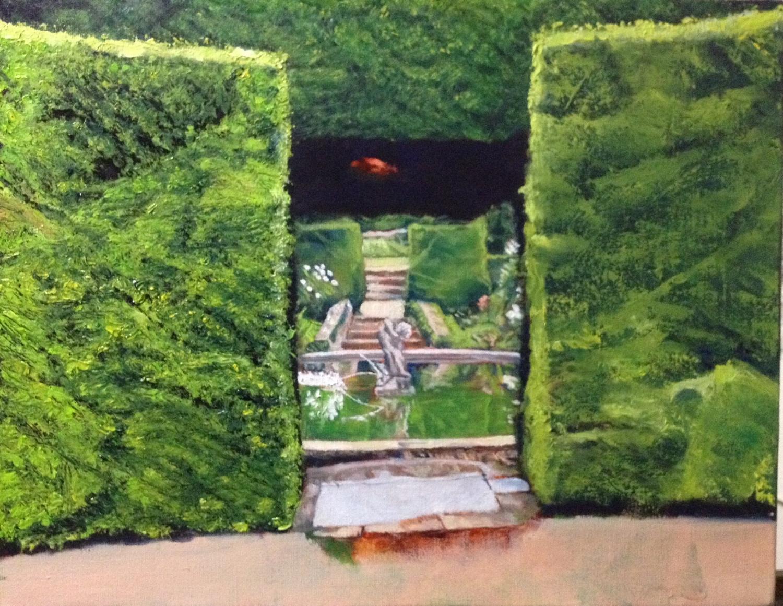 Work in progress focusing on left hedge