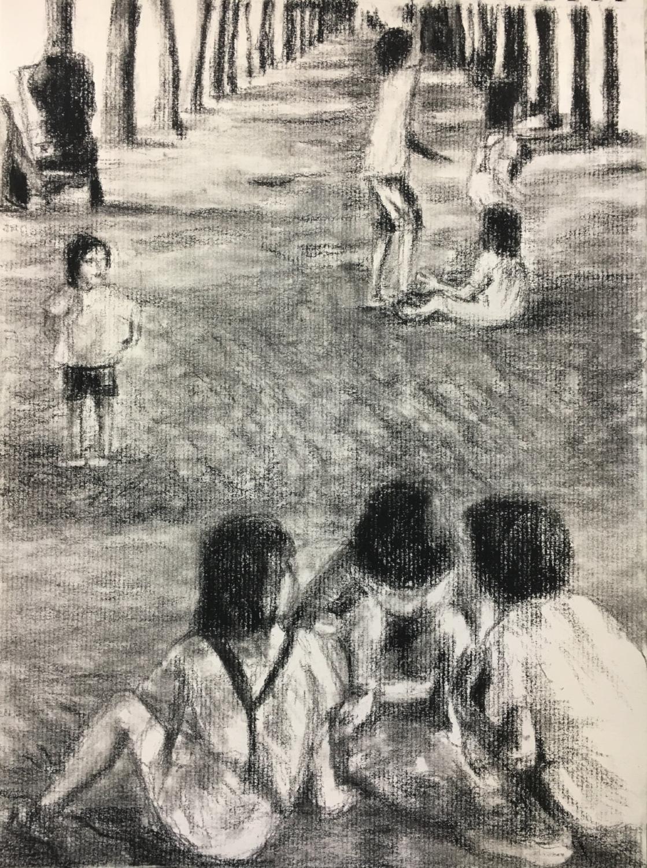 Kids at play in Palais Royal