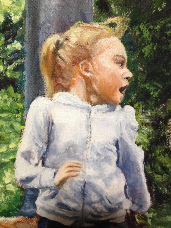 Girl running - detail
