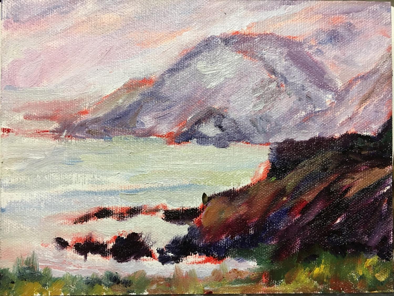 Quick Study of California coast (25 Jan)