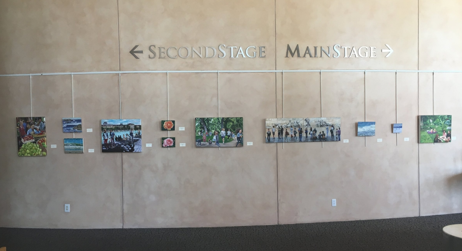 Main Wall - people in landscapes