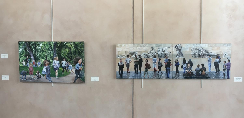 Main Wall - paintings 7, 8 and 9