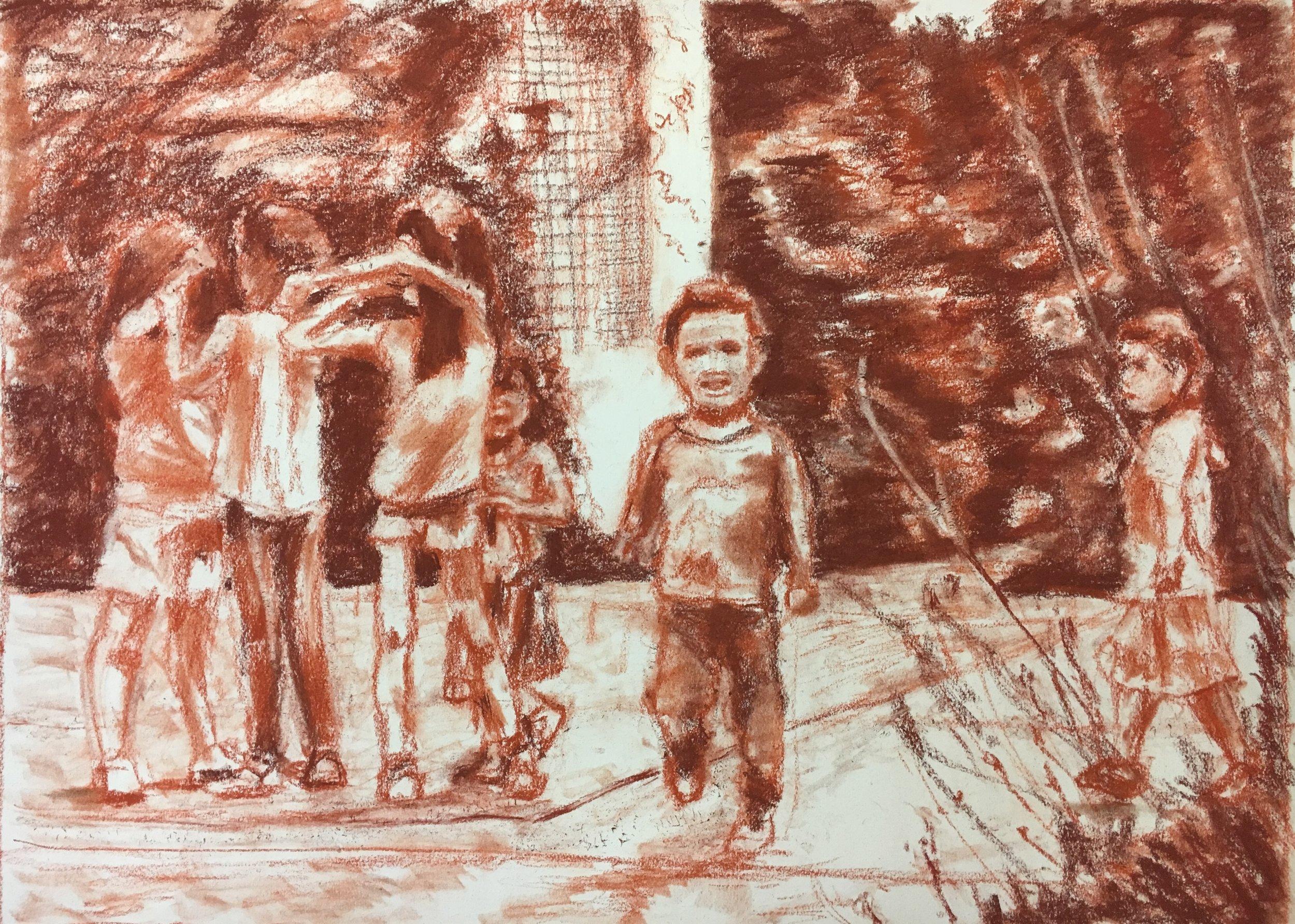 Children in Jardin Anne-Frank