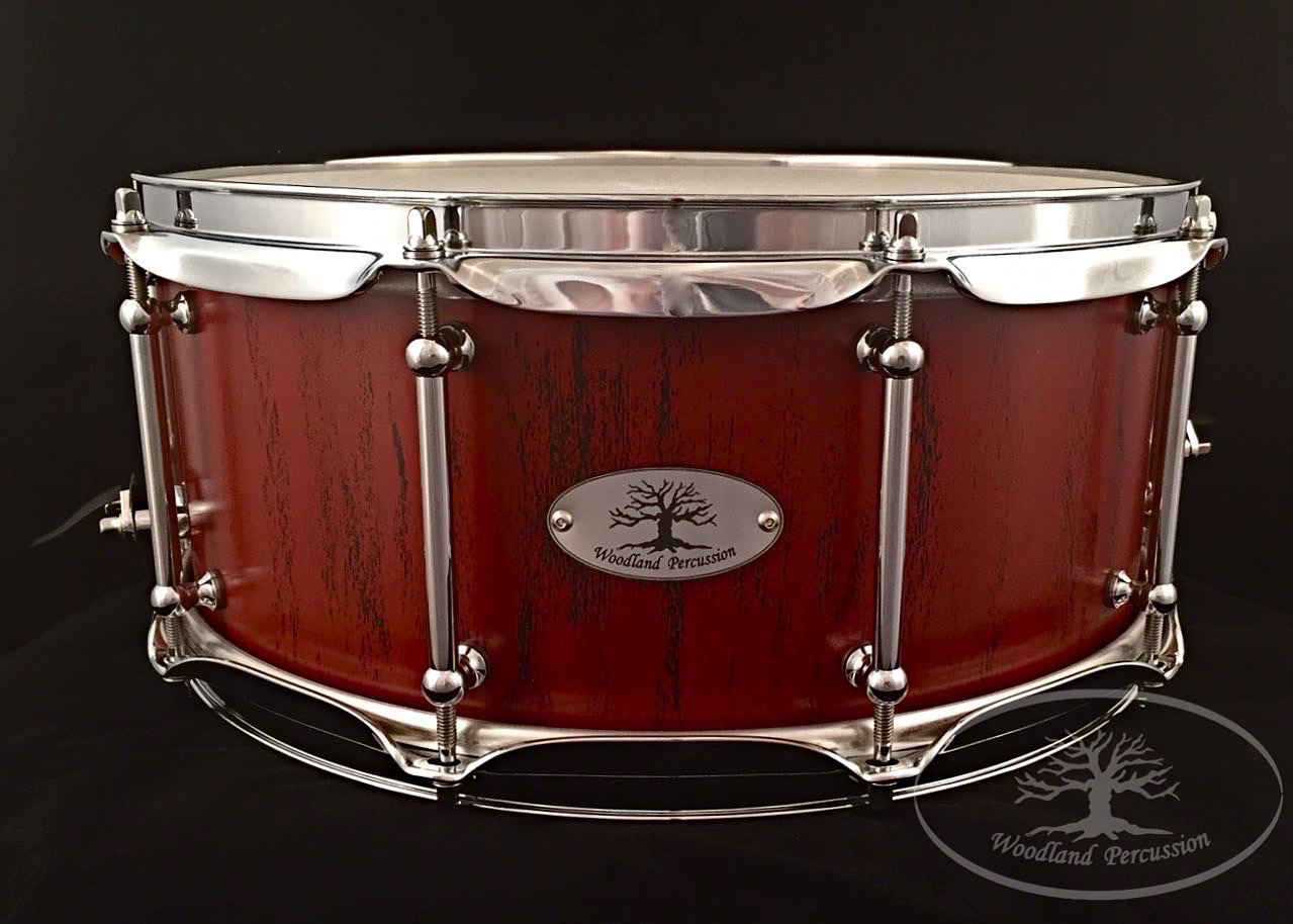 14x6x3/4 Birch  Crimson red over Onyx Black distressed finish with Chrome hardware