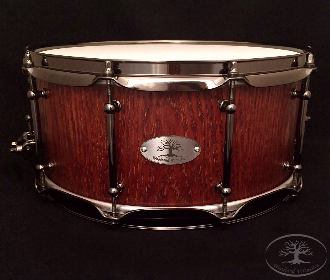 14x6.5x1/2 Red Oak  Aged Oak stain finish with Black Chrome hardware
