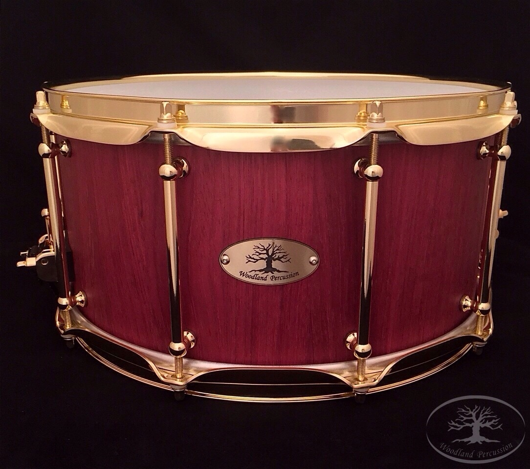 14x7x1/2 Purple Heart   Natural Oil finish with Brass hardware