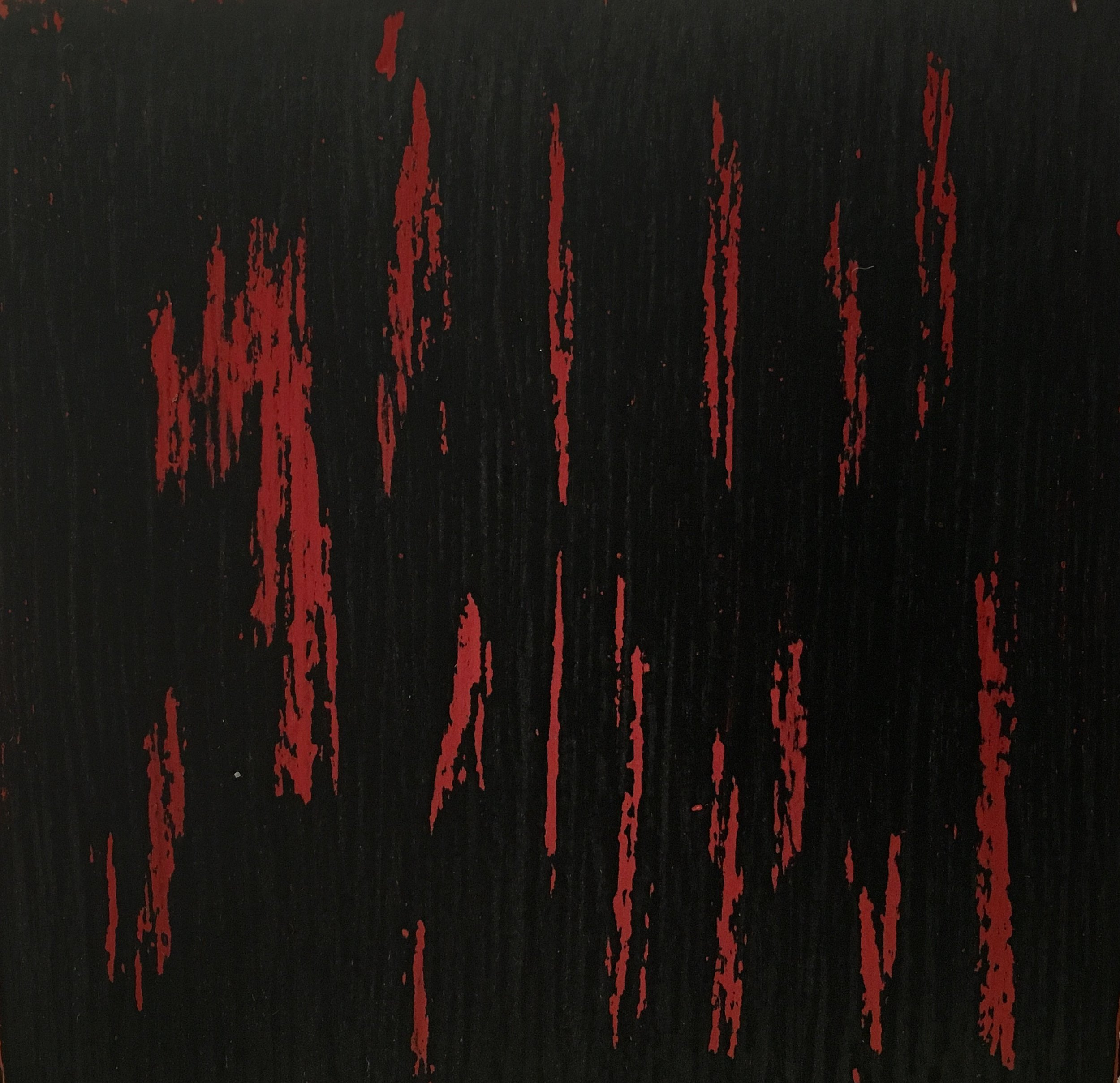 Onyx black over Crimson red