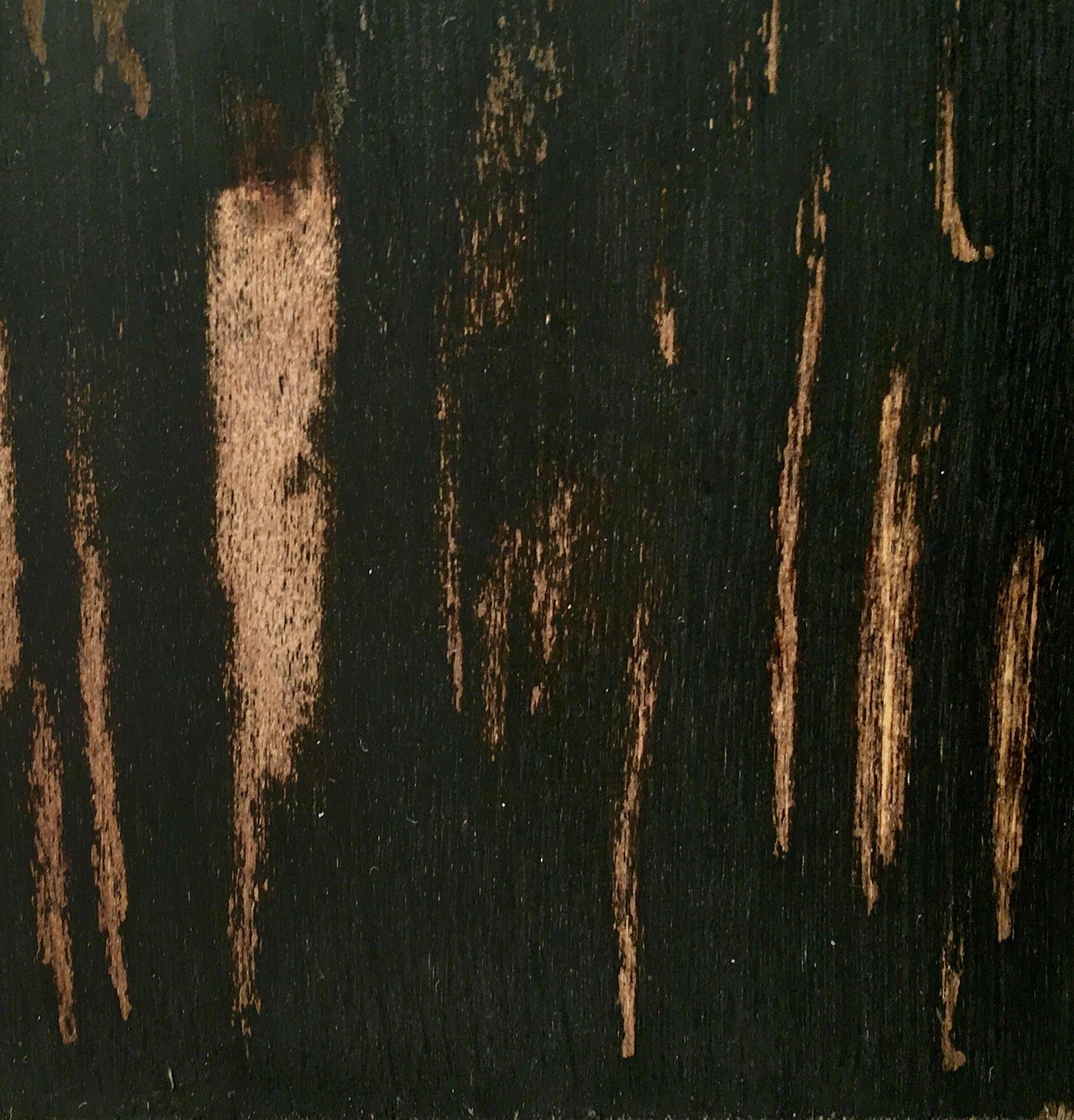 Onyx black over Chestnut stain