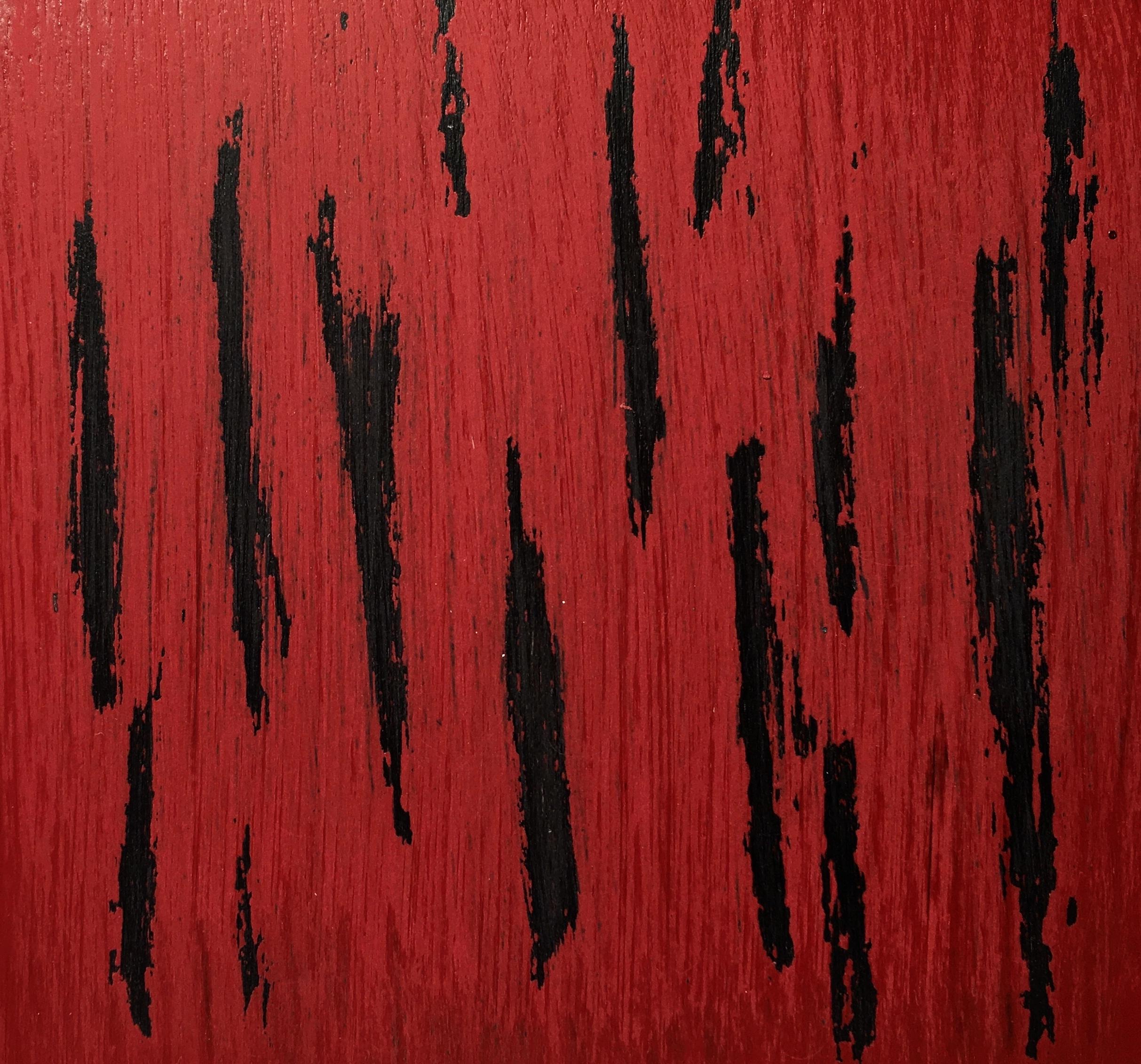 Crimson red over Onyx black