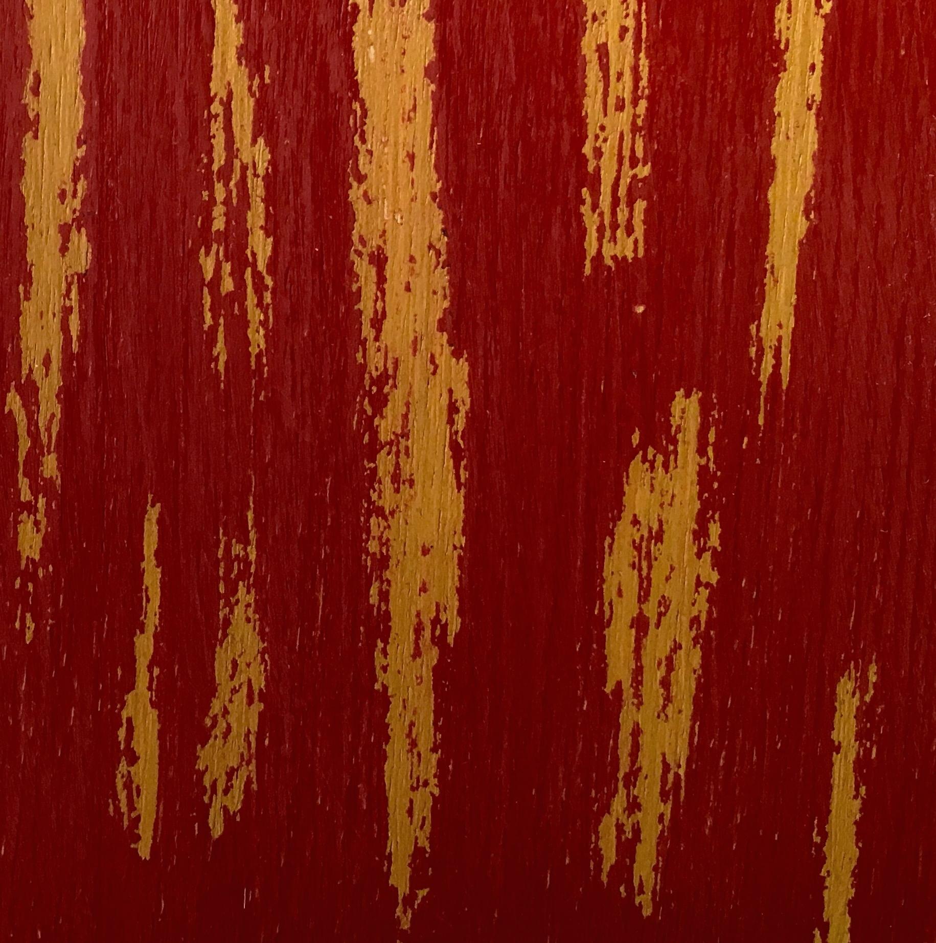 Crimson red over Mustard yellow