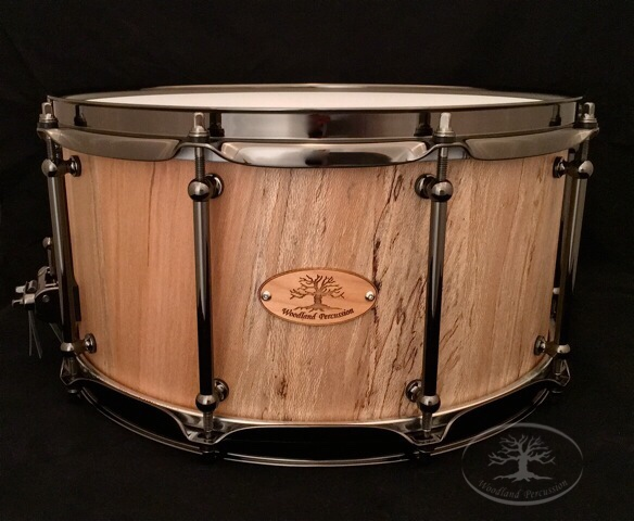 14x7x1/2 Spalted Sycamore   Black Chrome Hardware with a Natural Finish