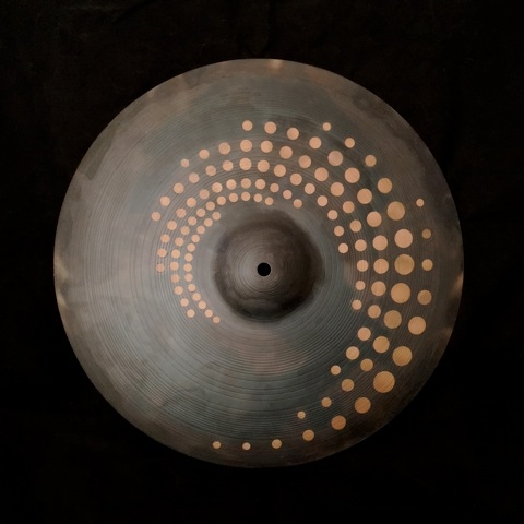"16"" Crash Cymbal  Spotted Spiral design"