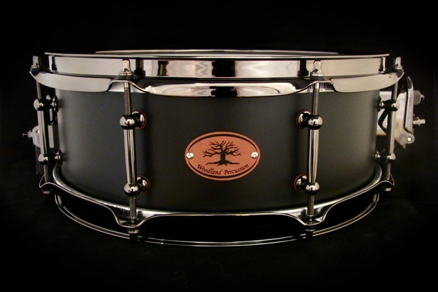 woodland percussion 13 inch black out birch series snare drum