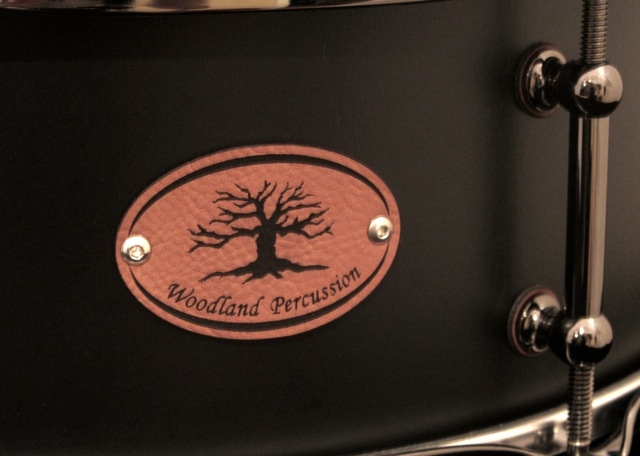 woodland percussion black out birch badge