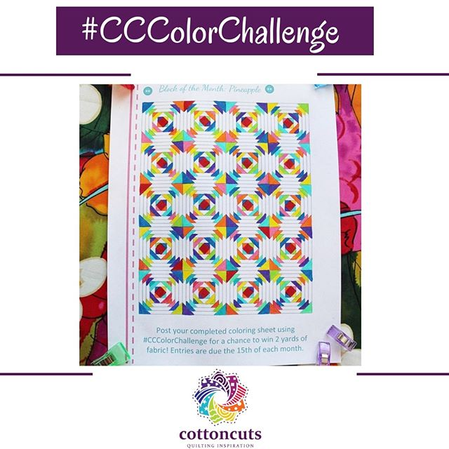 Congratulations @accidentallyquilting! You are the winner of our April's #CCColorChallenge! We find your colorful design inspiring! You just won two yards of your choice from our fabric shop, http://www.shopcottoncuts.com. All that you need to do is let us know what you would like (mix and match!) and send us an email at help@cottoncuts.com  The latest and greatest coloring grid is up on the Challenge site at http://www.cottoncuts.com/challenge. Enter while you can, chances are high that YOU could win 2 yards of your choice! Deadline is May 15th at midnight, CST. Good luck!! . . #cottoncuts #iheartcottoncuts #quilts #quilting #sewing #quiltsmadewithlove #quiltingfabric #makers #sewingproject #sewingisfun #quiltingfabrics #quiltingcotton #quiltingkeepsmesane #ihavethisthingwithquilts #quiltingfun #quiltinginspiration #subscriptionbox #quiltersofinstagram #quilters #create #sewing #fabricstash #patchwork #sewsewsew #quiltsofinstagram #fabricbox #arkansassnowflakequilt #quiltinginsiration #makersgonnamake