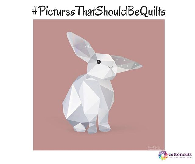 This weeks #picturesthatshouldbequilts is hopping over from @diana_dachille!  She shares her cute little flop eared rabbit! Diana's fit bit animals are just adorable.  Did you know? Rabbit's teeth never stop growing. Thankfully, they are naturally kept short by chewing. Lots and lots of chewing, that is — about 120 times a minute + have over 17,000 taste buds. How would you use this in your next project? What project will it inspire for you? Leave a comment below and continue to tag #picturesthatshouldbequilts when you find your next inspiration! . . . #quilters #quiltersofinstagram #quiltingfun #diyeaster #cottoncuts #ihearcottoncuts #quiltsofinstagram #sewsewsew #soquilty #bunnyquilt #sewing #quiltsmadewithlove #quiltingfabric #easterquilt #sewingproject #sewingisfun #quiltingfabrics #quiltingcotton #quiltingkeepsmesane #ihavethisthingwithquilts #sewing #mosaic #patchwork #handmade #paperpiecing #quilters #modernsewing #paperpieced