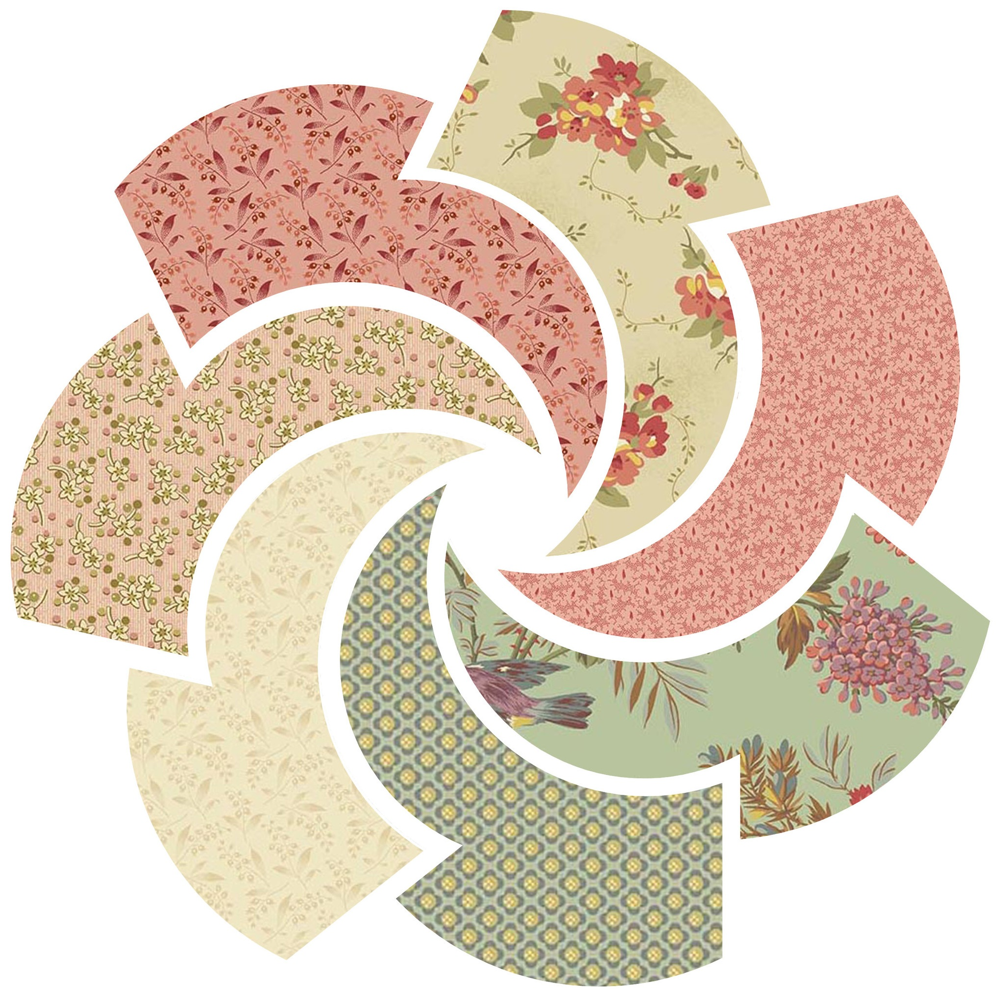 Bed of Roses by Edyta Sitar for Andover Fabrics