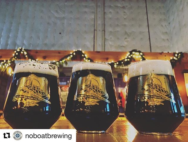 @noboatbrewing 's The Sceptre And The Isle Export-Style Coffee Stout (made with our Guatemala San Pedro Necta) currently on tap at their Brewery.