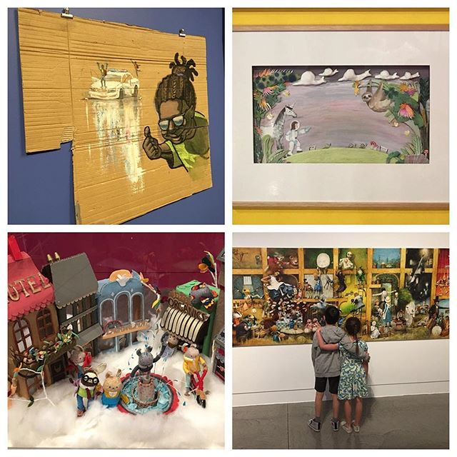 If you have a chance before the end of May, check out the beautiful exhibition 'Reimagine: the world according to children's books' at @geelonggallery. It was incredible to see the artwork from some of our favourite picture books up close!