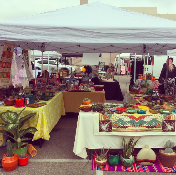 The Mellow Space booth at the February 10th market @ Silver Lake Flea