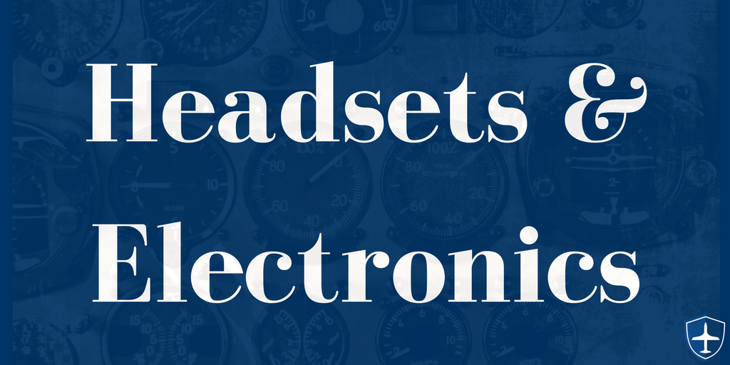 Aviation headsets and electronics
