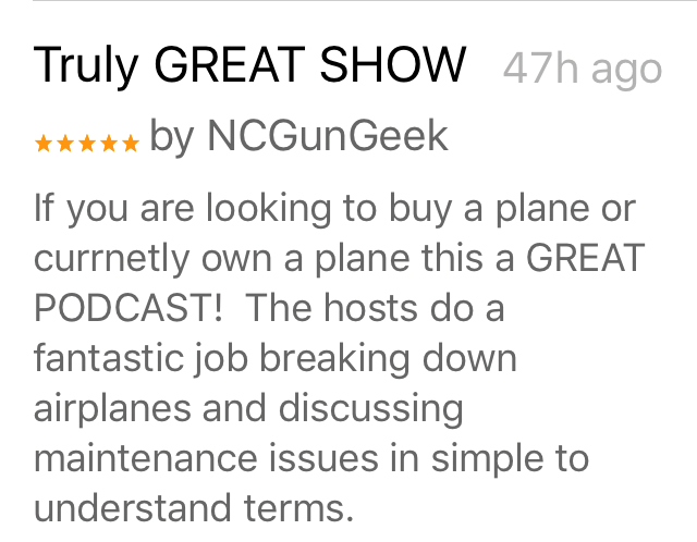 Airplane Intel Podcast Reviews on iTunes