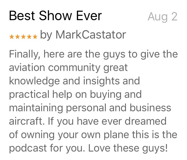 Airplane Intel Podcast Reviews