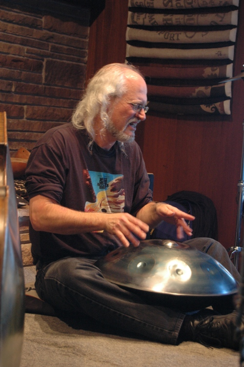 Ian on Hang (Swiss melodic percussion instrument)