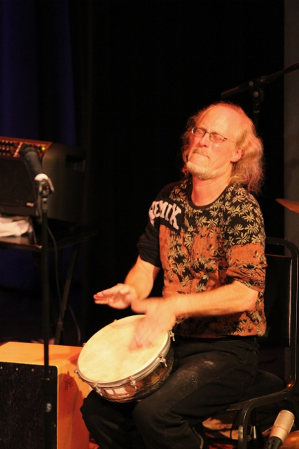 Ian on Doumbek (pan-Arabic goblet drum)