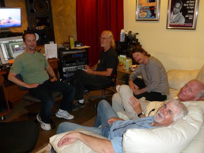 """Outside the Box"" Session. Fred Randolph, Ian, Frank Martin, Paul McCandless & Dave Tidball"