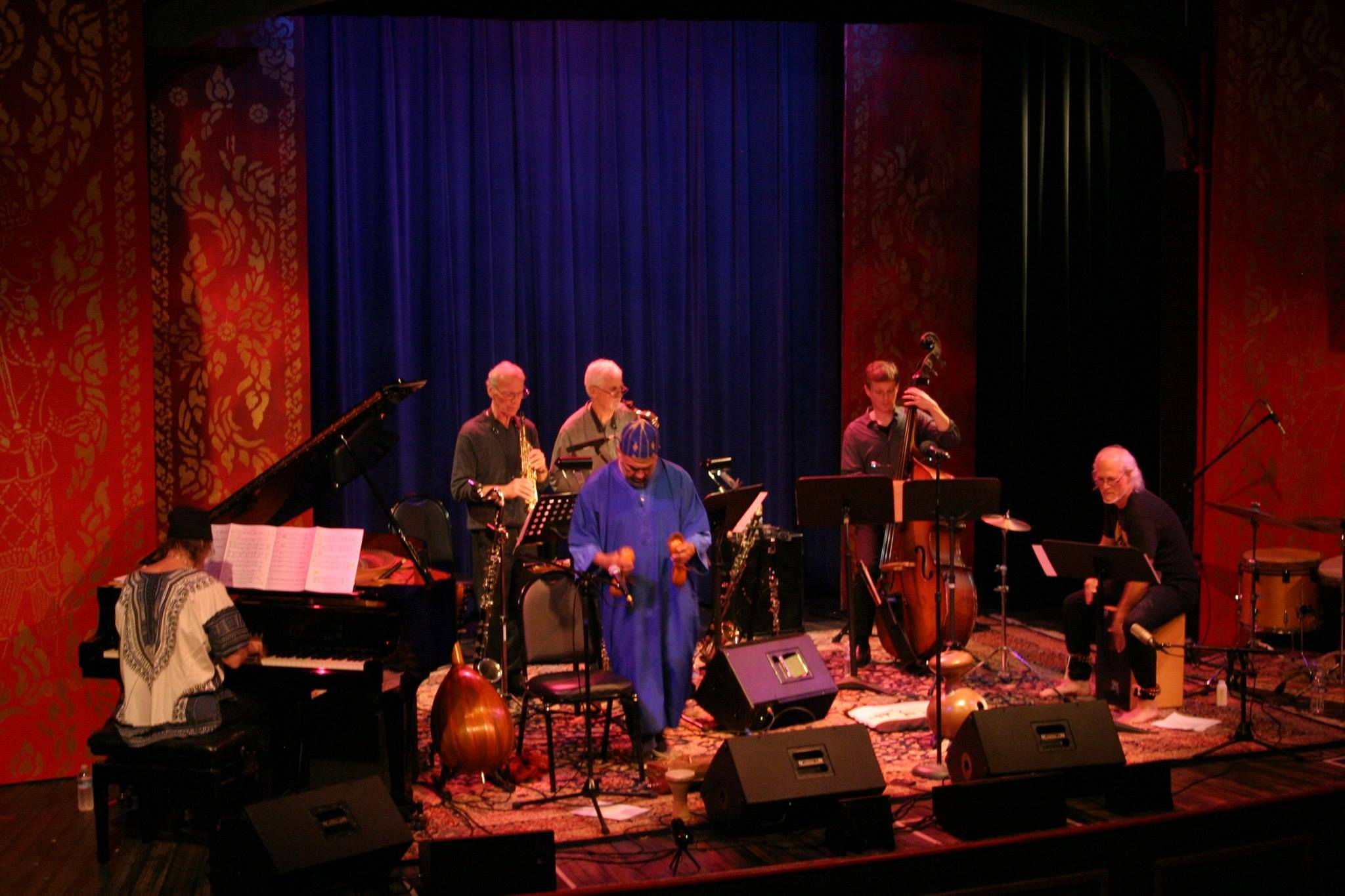 Afro-Weston Band at 142 Throckmorton Theatre in Mill Valley (3/2016)