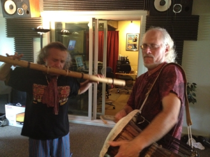 Tito La Rosa & Ian in Session at the Banquet Studios (Photo by Warren Kahn)