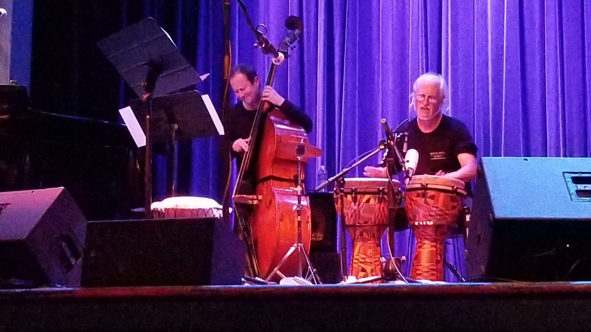 Ian on Djembes & Fred Randolph - Bread & Roses Benefit Concert