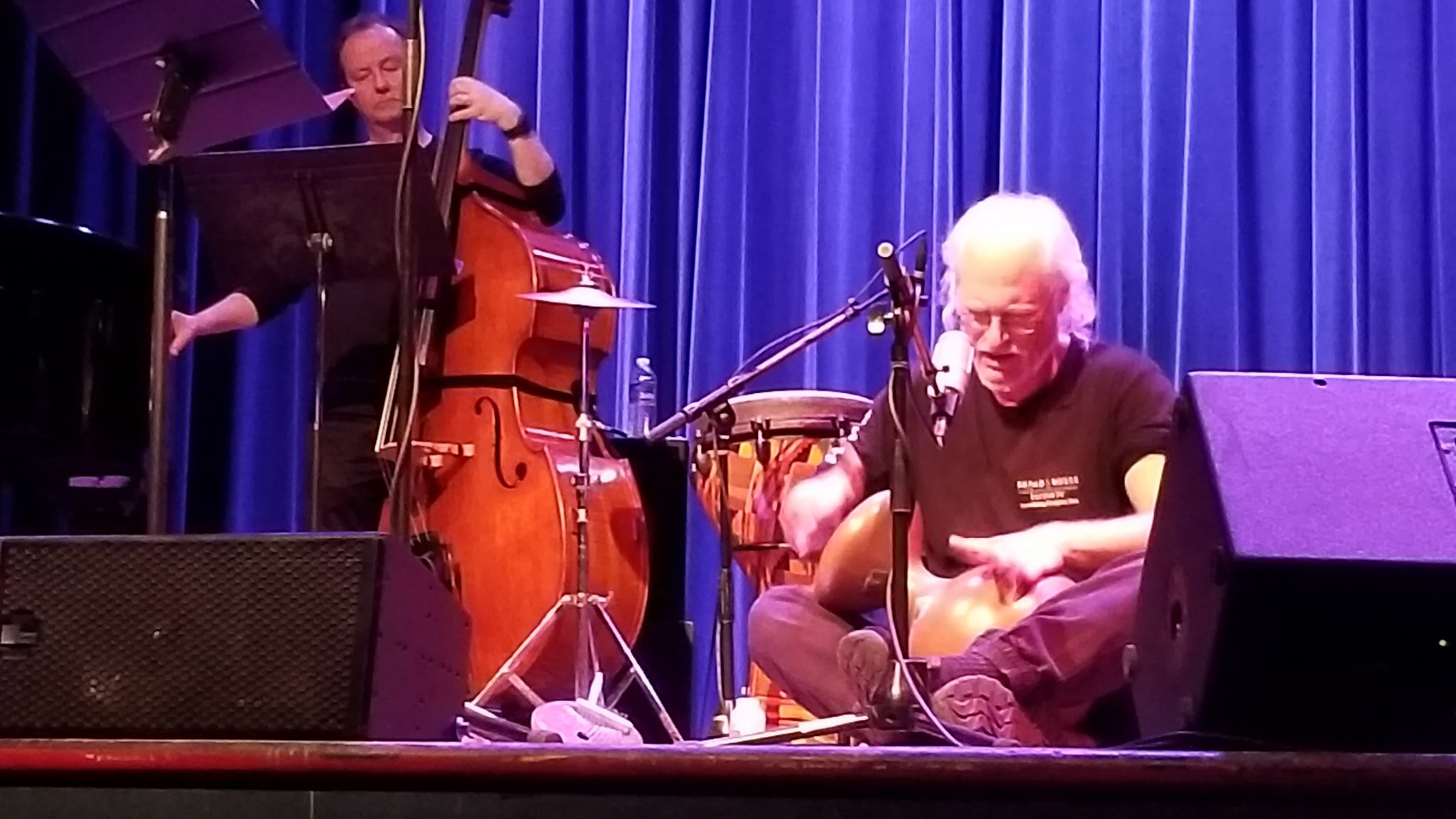 Ian on Udu with Fred Randolph - Bread & Roses Benefit Concert
