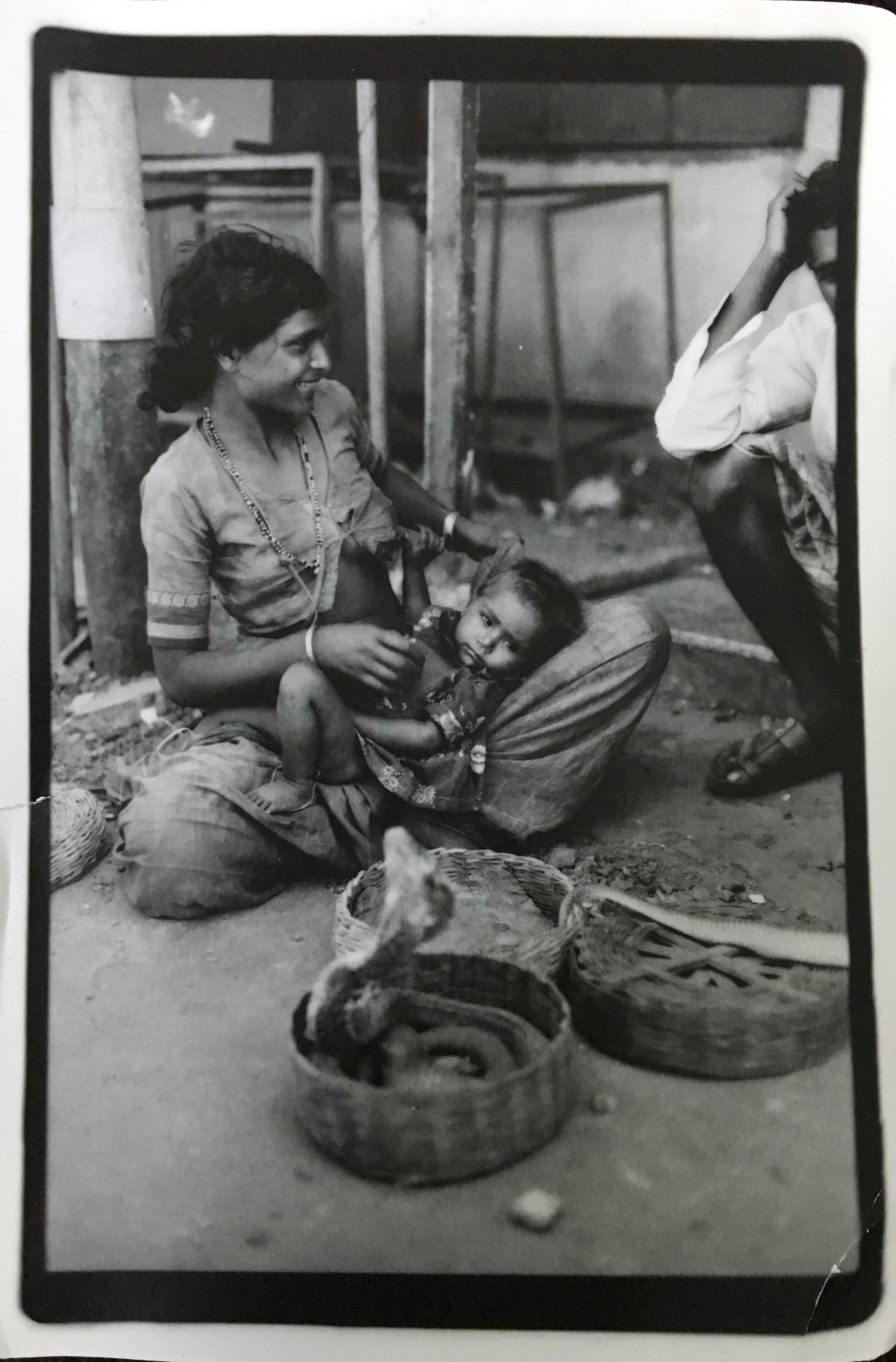 'Karnataka City Gypsy Cobra Family - in the back alley of Mapsa Goa, India 1997 - Derick Ion Almena' •  update  - it has been brought to my attention that this photo may not have been taken by Derick, but by an ex who was with him in India – that he claimed it as his, despite knowing she'd snapped it. Though I can't confirm this, I think it's fair to acknowledge the question of its origins.