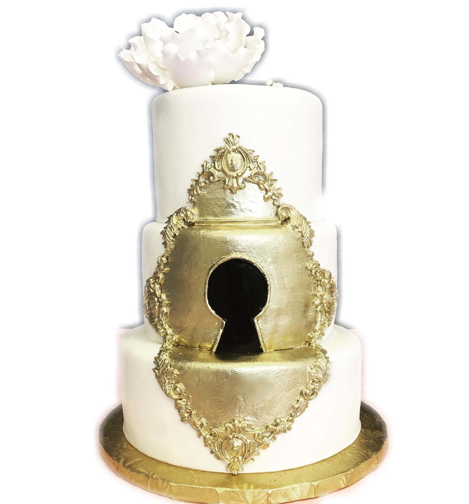 Lock & Key Hole Cake