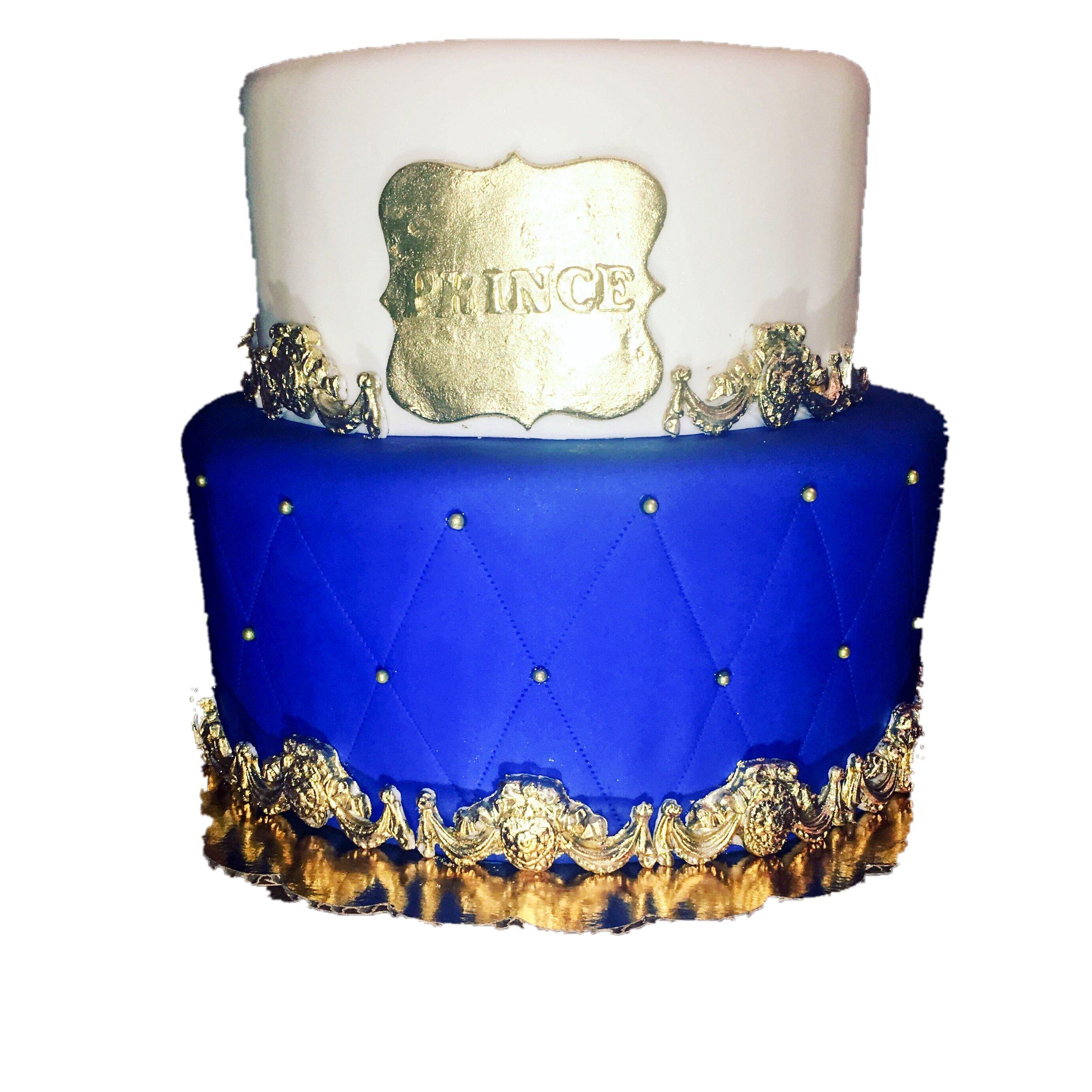 Prince shower cake