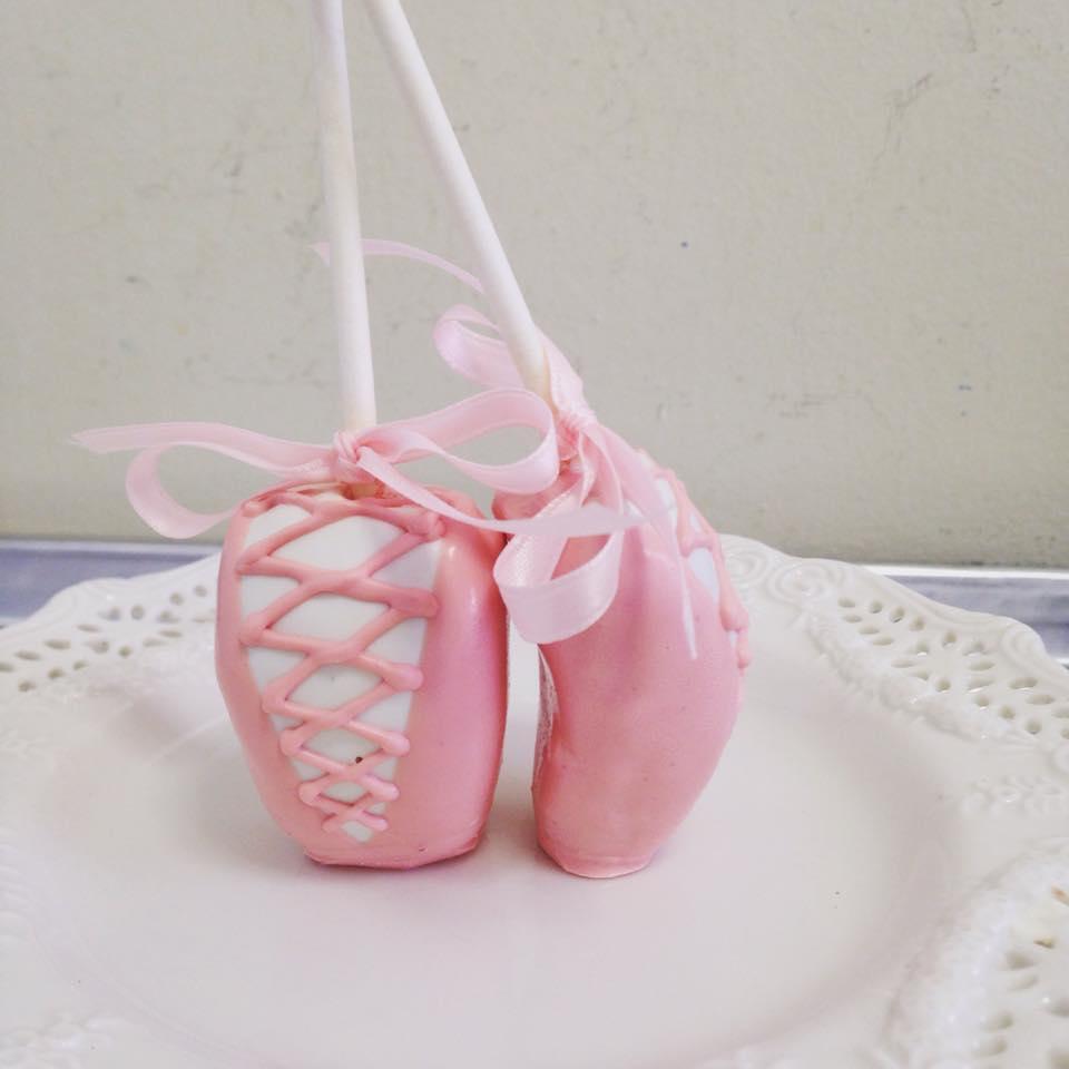 Ballet Shoe cake pops