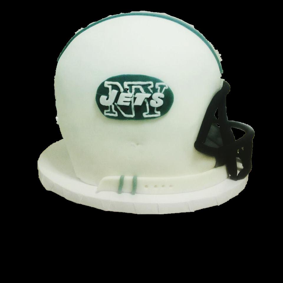 Jets Helmet Cake