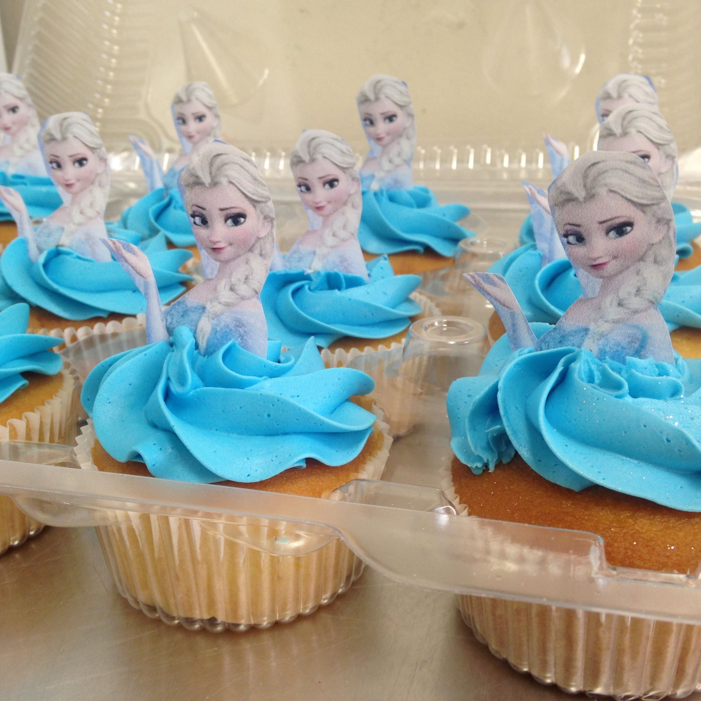Frozen custom cupcakes