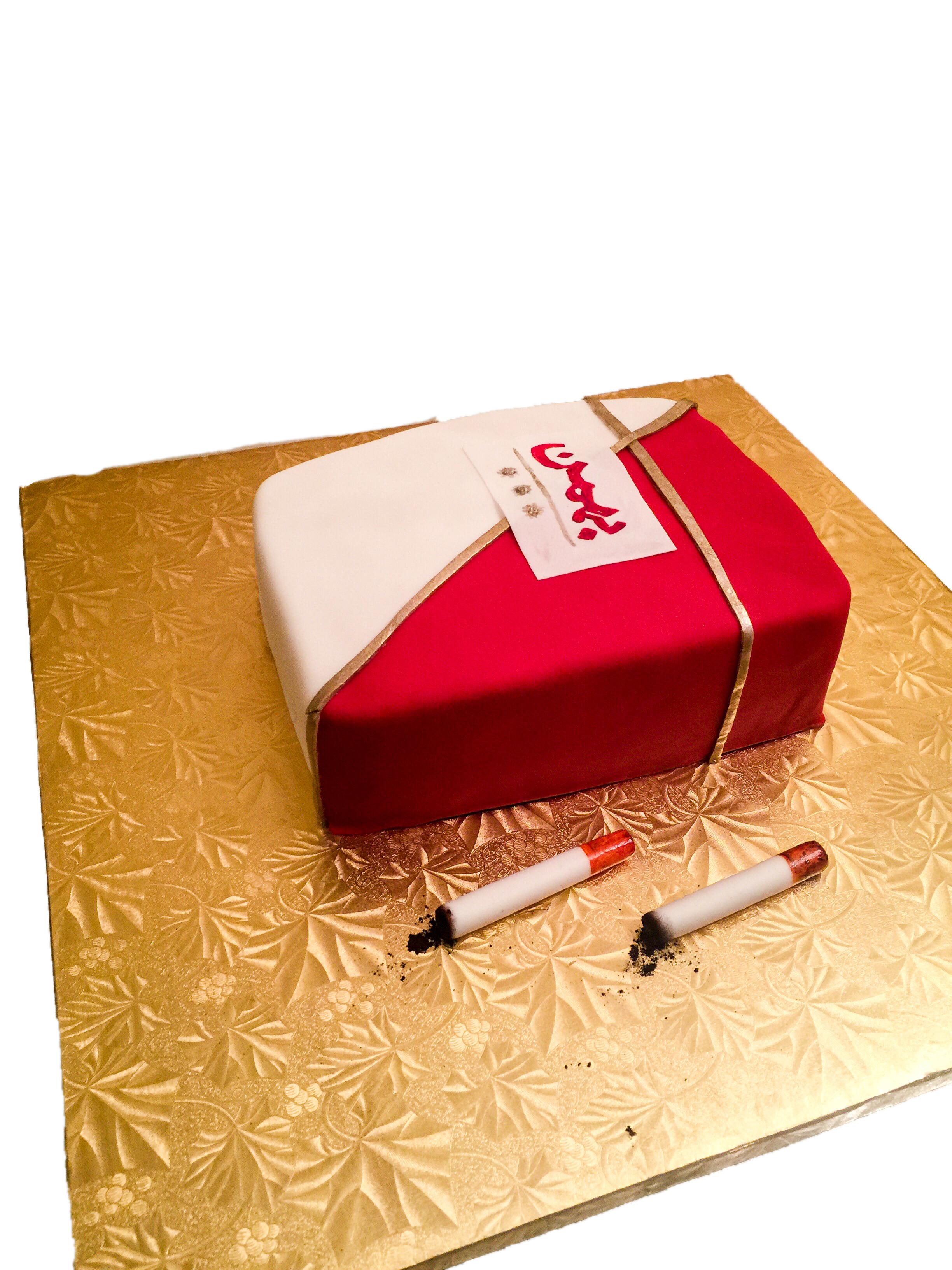 Foreign Cigarette Box Cake