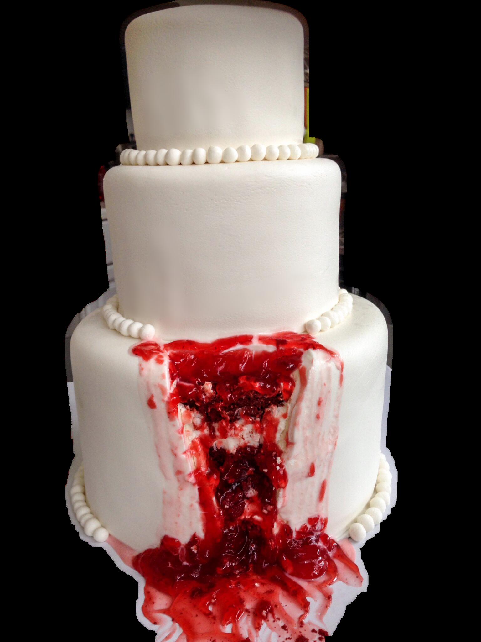Bloody Halloween Wedding Cake