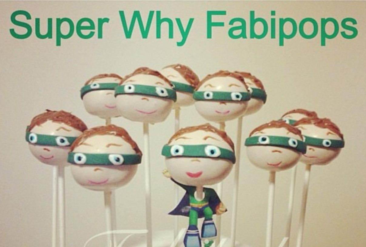 Super Why cake pops