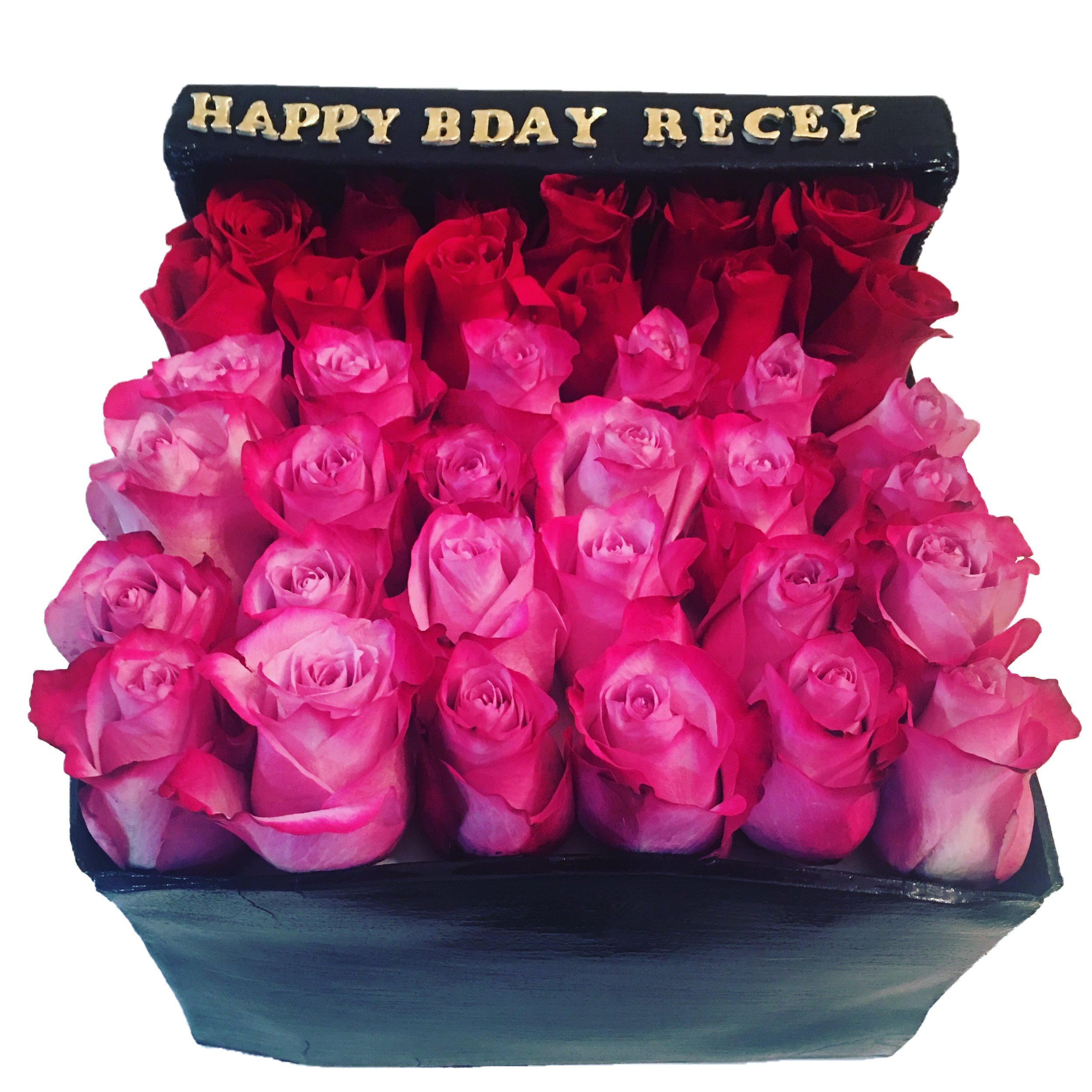 Rose Box Cake ( 3 dozen roses)