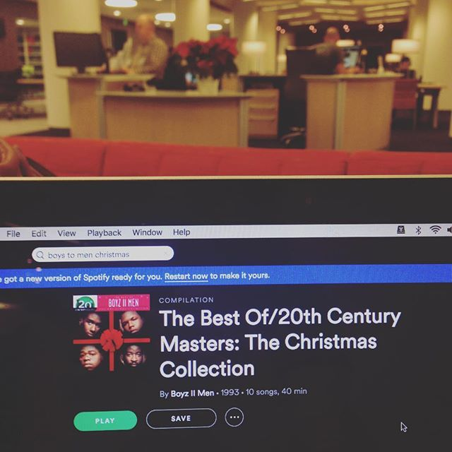 This afternoon's grant prospecting session is made possible by the awesome #BPL staff at the Copley Library and the Boyz II Men's Christmas album.