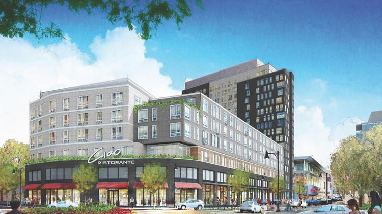 Boston Landing in Allston near New Balance (NB Development Group and HYM)