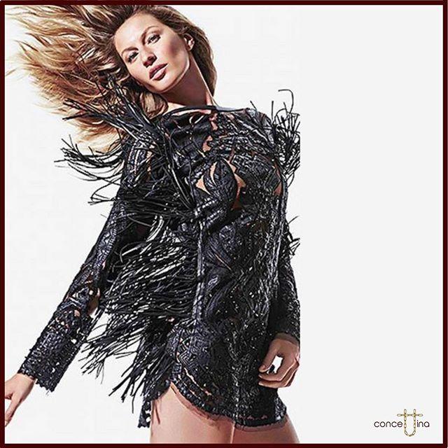 Model Gisele Bundchen wearing Emilio Pucci F/W 2014 😍 #giselebundchen #emiliopucci #fall #winter #2014 #supermodel #black #dress #bohemian #bohochic #embellished #motion #hairflowing #fashion #fashionblogger #photooftheday #beautiful #tbt #love ❤️
