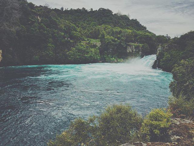 New Zealand waterfall.