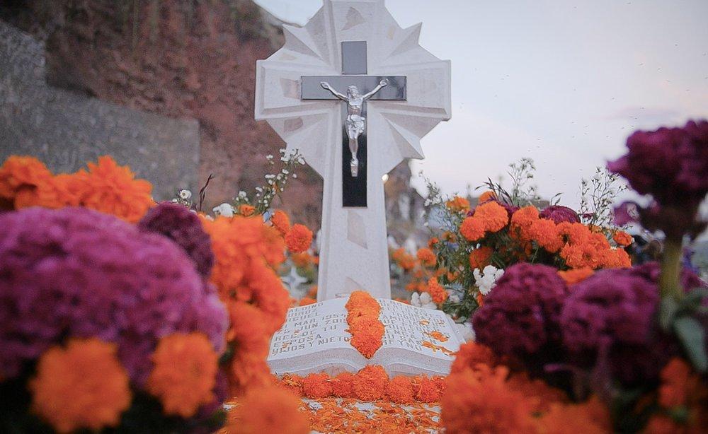 Tombstone in Janitzio's Cemetery.