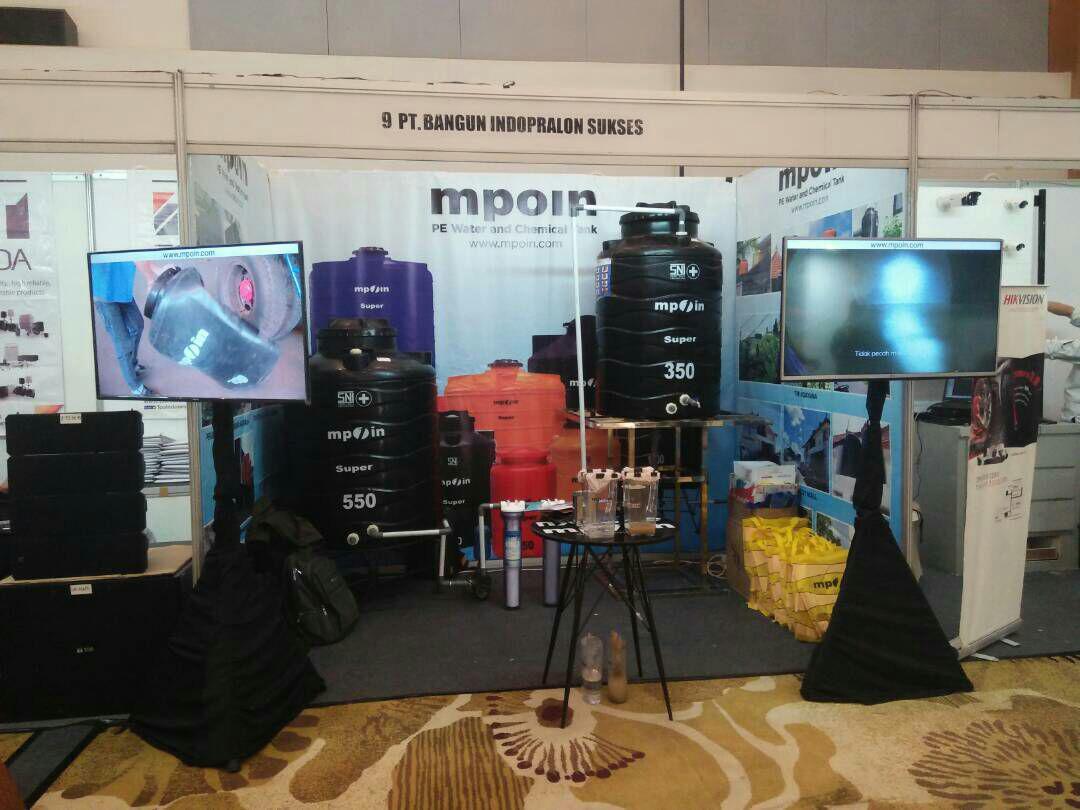Pt. Bangun Indopralon Sukses bersama Tangki Tandon Toren Air MPOIN PLUS di Pameran Ace Gathering, Sutos Semarang.